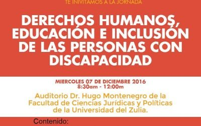 Derechos Humanos, Educación e inclusión de las personas con discapacidad.