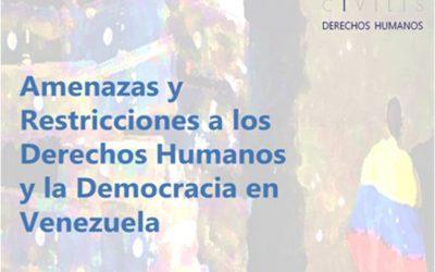 Informe Comprehensivo sobre Amenazas y Restricciones a los DDHH y la Democracia en Venezuela – Civilis Derechos Humanos