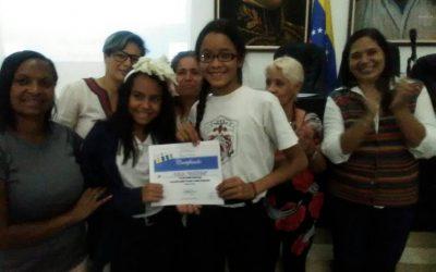 Premiados estudiantes de Catia por ser activistas ambientales