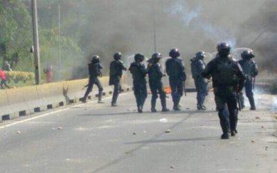 GNB reprimió protesta universitaria en la Panamericana por deterioro de la Uptamca | Analitica.com